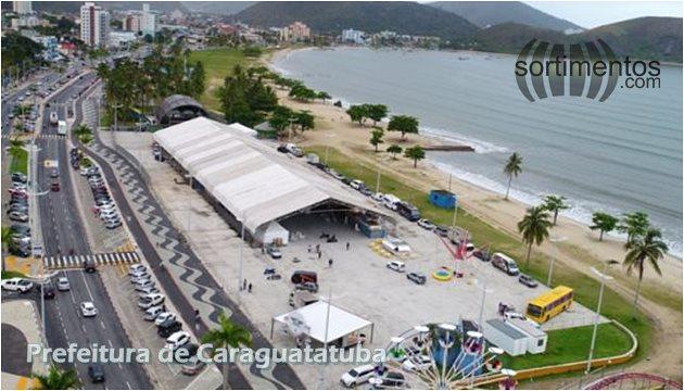 Praça da Cultura (Avenida da Praia), no Centro de Caraguatatuba - Turismo Litoral Paulista - Sortimentos.com
